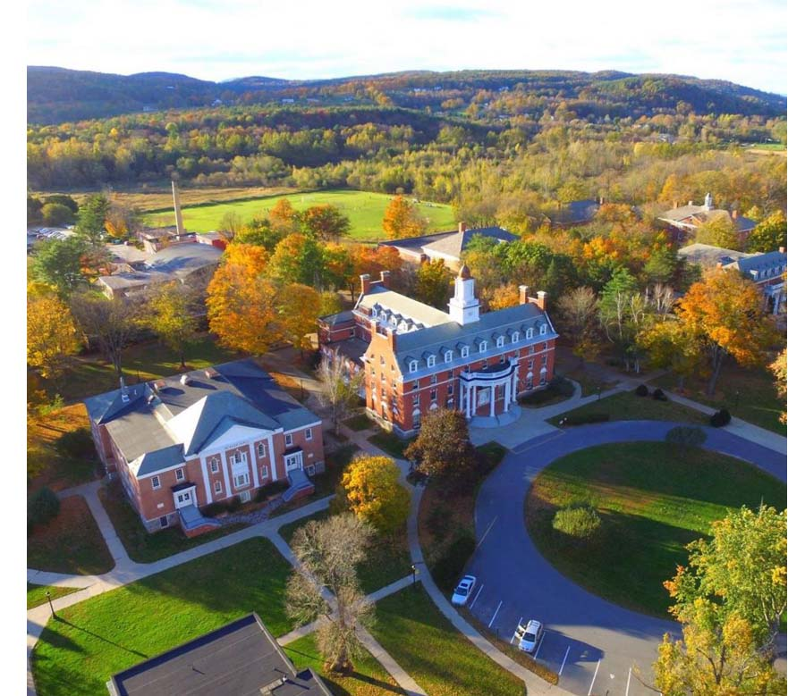 Green Mountain College -kampus, Poultney, VT 2018